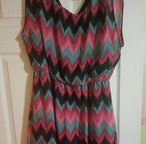 Dresses & Skirts - Ladies Zig Zag Watercolors Dress